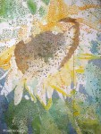 Beginning Pointillism Painting Sunflower