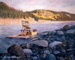 The Copper River Fish Wheel Original Painting SOLD