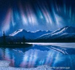 Aurora Borealis Rayed Band Formation Original Painting SOLD