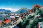 View of Kennicott before Stabilization Original Painting SOLD