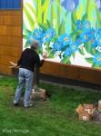 Gail signs the Seward Mural