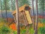Buy Mini Original Outhouse Painting