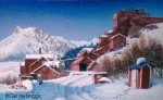 Kennicott Copper Mill in Winter Original Painting SOLD