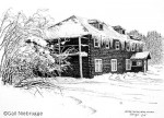 Ink Drawing of Copper Center Lodge