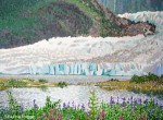 Painting the Light Values on the Mendenhall Glacier