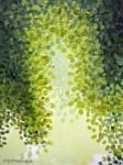 Aurora Borealis Painting Pointillism Detail