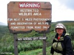 Artist Hikes Sable Pass