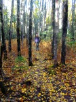 Artist Hikes Crevasse Moraine in the Fall
