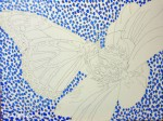Pointillism background for Monarch Painting