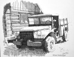 May Creek Truck ink drawing Finished