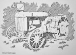Ink Drawing of an ancient Wasilla Tractor
