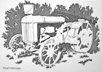 Step 2 Ink Drawing of Wasilla Tractor