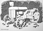 Step 3 old Tractor Ink Drawing