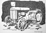 "Finished Ink Drawing ""Wasilla Tractor"""