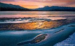 "Winter Sunset Painting – ""Open Water"" SOLD"
