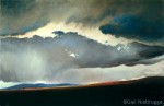 Original Painting of a Dramatic Alaskan Sky SOLD