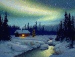 """Christmas Cabin"" Art Print – Sold Out"