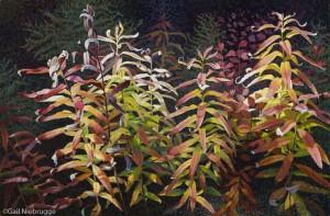 Buy Fall Fireweed Leaves Art Print