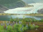 """Buy Glacier Art Print – """"Juneau's Glacier""""  12""""x 16"""""""