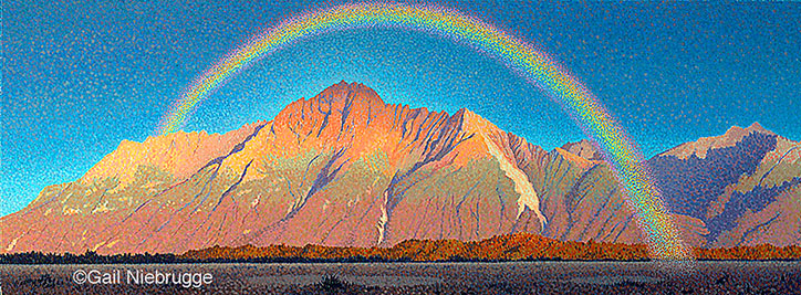 Buy Landscape Painting Rainbow Of Promise