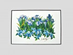 "Buy ""Iris & Forget-me-not"" 4″ x 6″ Mini Print"