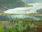"SOLD ""Juneau's Glacier"" Original Painting"