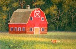 Red Fox & Barn Art Print – Sold Out