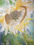 New Sunflower Painting in Pointillism  [Sunflowerpainting1]