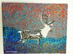 Next Step in Small Pointillism Painting; Caribou