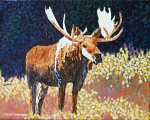 Step three Bull Moose Miniature Painting