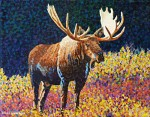 """Moose One"" Miniature Painting SOLD"
