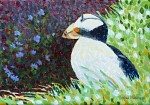 Adjusting Composition on Puffin Painting
