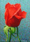 """Rosebud"" Miniature Painting SOLD"