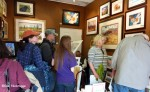 Busy Sunny Sunday in the Art Booth