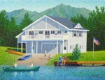 "Finished Commission Painting ""Mystrom Family Boathouse"""