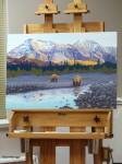 "Phase 3 ""Teklanika Bears"" Painting"