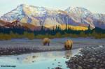 "Phase 4 ""Teklanika Bears"" Painting"
