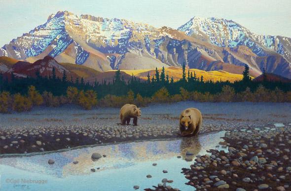 Buy Teklanika Bears art print