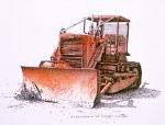 "Buy Original Ink/Watercolor ""Old Bulldozer Kennicott"""
