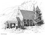 "Buy Original Drawing ""St. Peters Episcopal"" Seward, Alaska"
