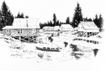 "Buy Original Ink Drawing ""Tidewater"", Petersburg, Alaska"
