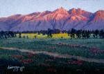 "SOLD Alaska artist Gail Niebrugge Pointillism Painting ""Twilight"""