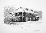"Buy Original Drawing ""Copper Center Lodge"""