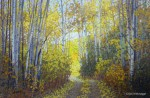 "SOLD Original Alaska Landscape Painting ""Copper Center Trail"""