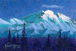 "SOLD Original Niebrugge Miniature Painting ""Denali Evening"""