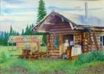 "Buy ""Downtown Chisana 1989"" Alaska, Original Painting"