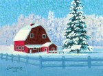 "Buy ""Wasilla Barn"" Original Miniature Painting"