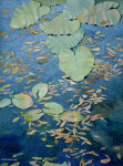 SOLD Niebrugge Painting Pond Lily Leaves